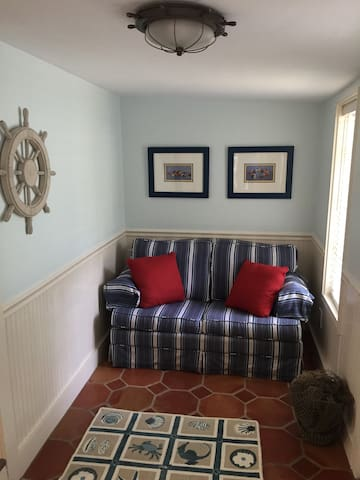Pull out sofa in sitting room