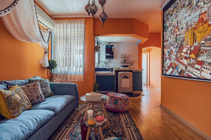 「漫遇·摩洛哥」精品新房 摩洛哥风情精品民宿 楼下就是太古里 电视塔春熙路ifs 地铁二号线