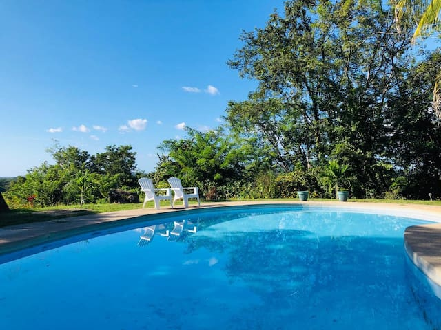 CHARMING JUNGLE CASITA w/ pool, view & terrace!