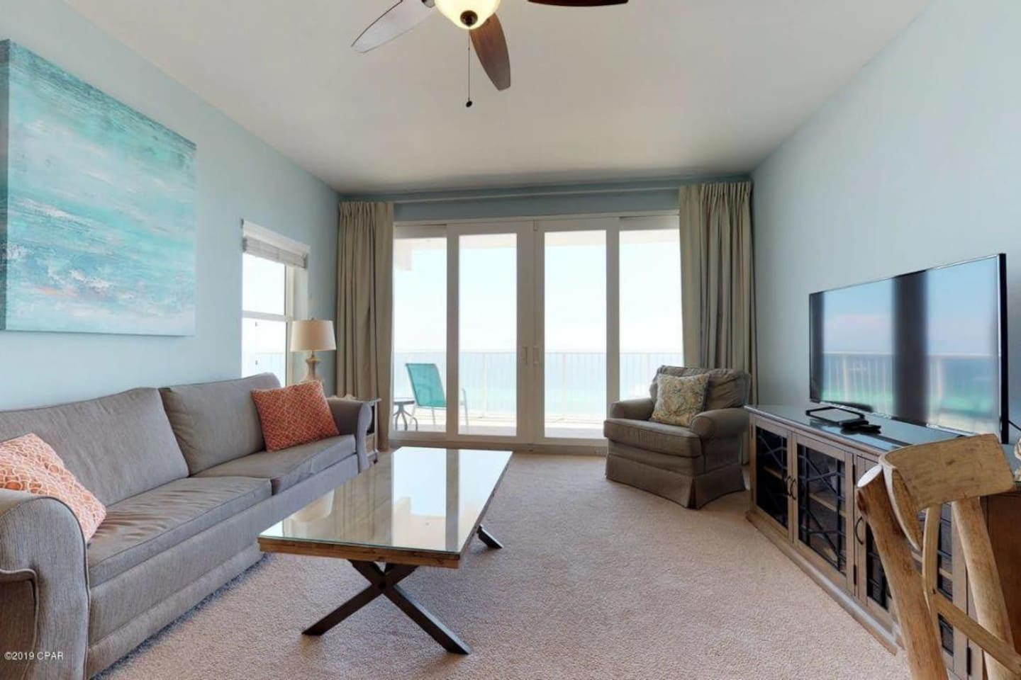View of the gulf from across the street in your living room
