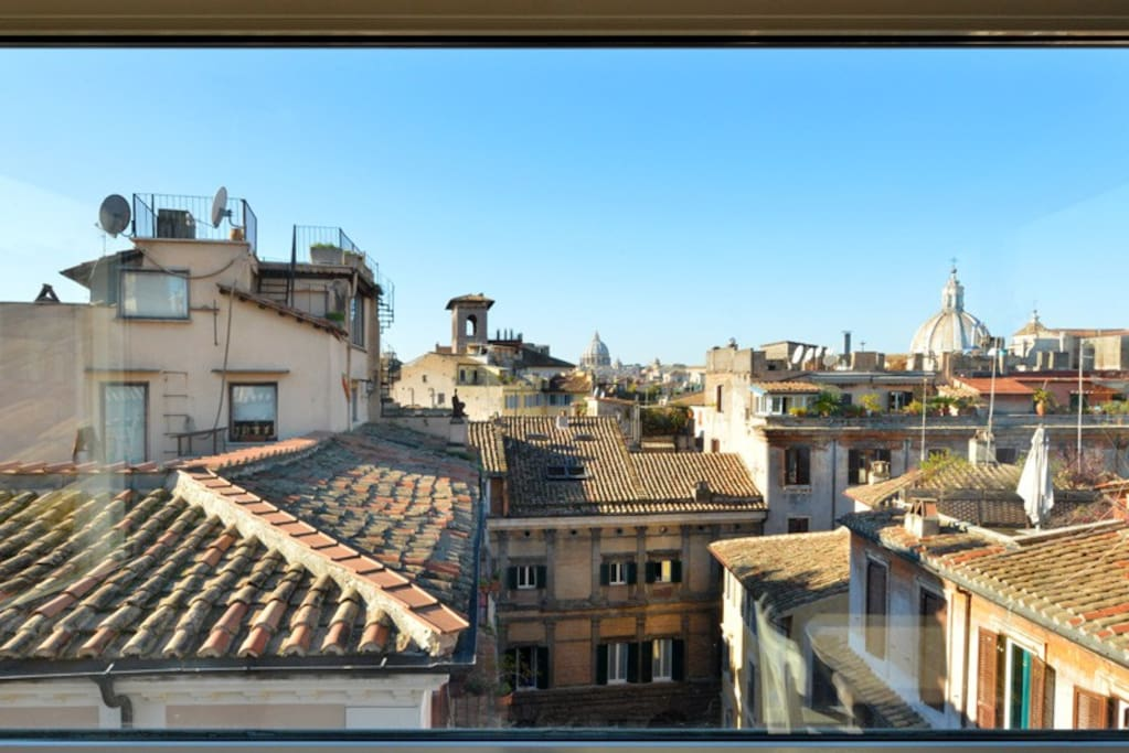 The view of the Roman rooftops