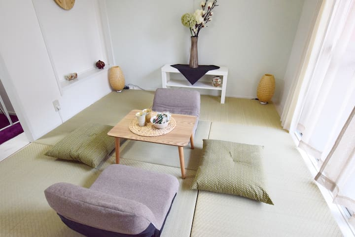 Cozy Japanese room in Osaka, 3min walk to sta. - Naniwa-ku, Ōsaka-shi - Apartmen