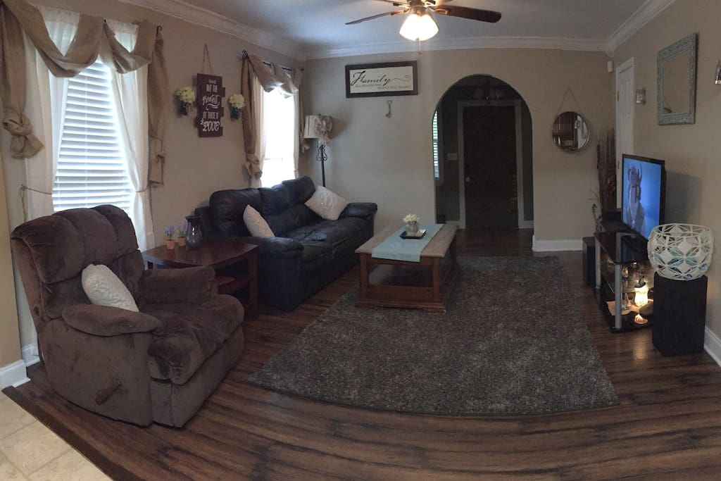 The living room area.