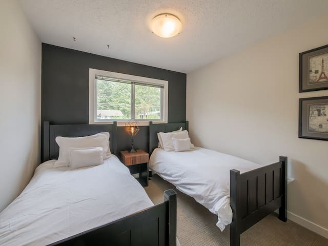 Third bedroom has 2 twin beds & closet with great storage