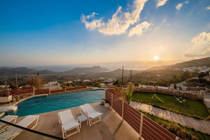 Neu gebaute Plakias Sunset Villa in Südkreta
