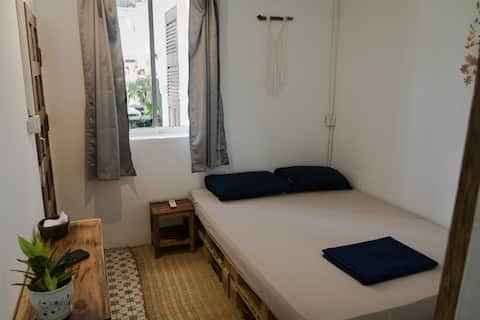 Rooftop Terrace  Double Room with Ensuite and AC