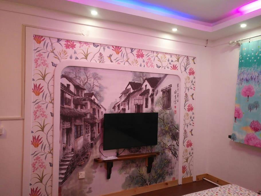江南电视背景墙