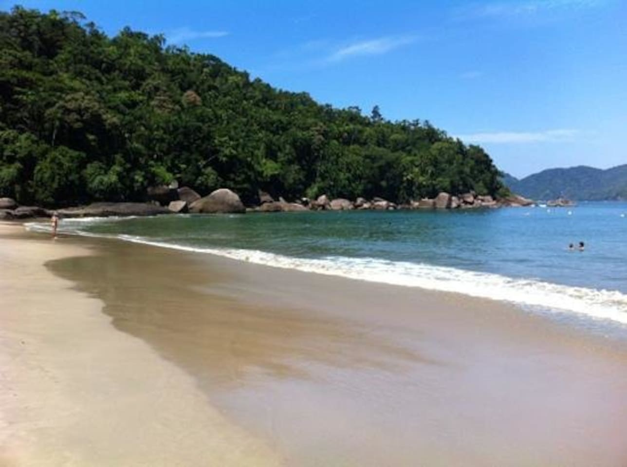 This is Lázaro beach just two blocks walking.