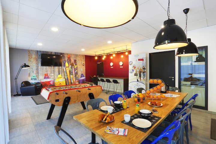 Studio équipé, résidence les arceaux, Montpellier