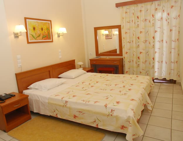 Private Double room with buffet breakfast.
