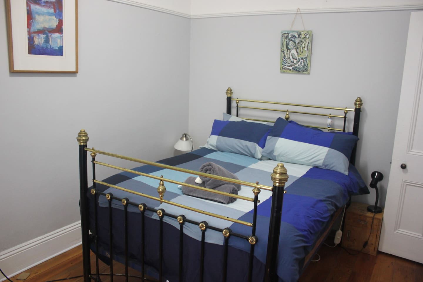 Bedroom 1: simple furnishing, double bed,electric blanket, electric heater