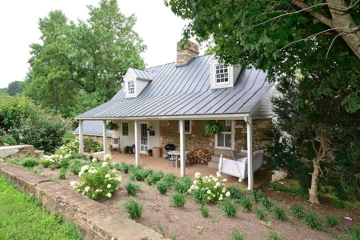 Stone House Estate Cottage on Large Horse Farm