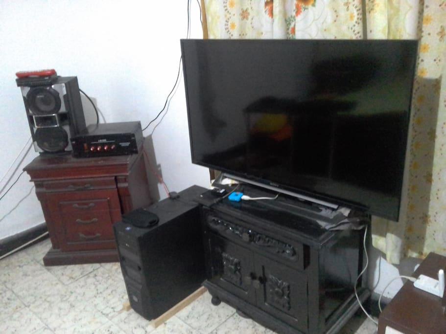 televisor con cable