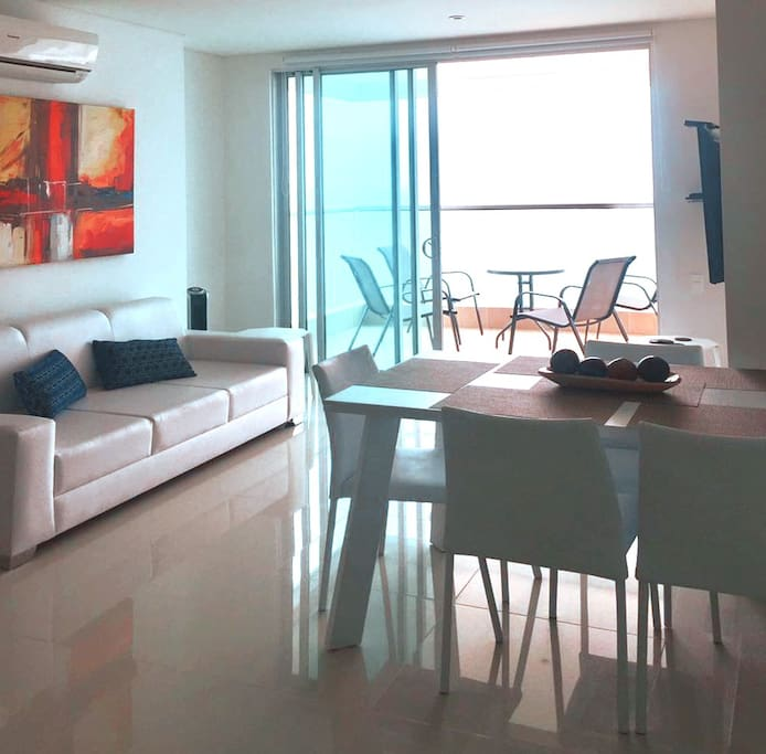 Living area leading to the terrace/balcony