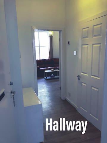 Hall way view from the front door (looking left)