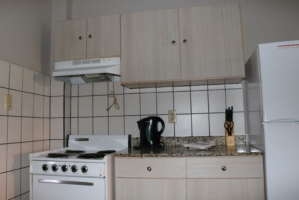 The kitchen with it's utilities