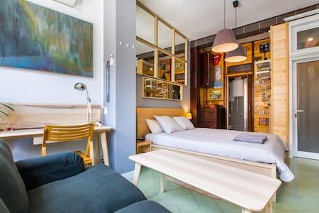 Great Bedroom in Large Studio in Central Barcelona