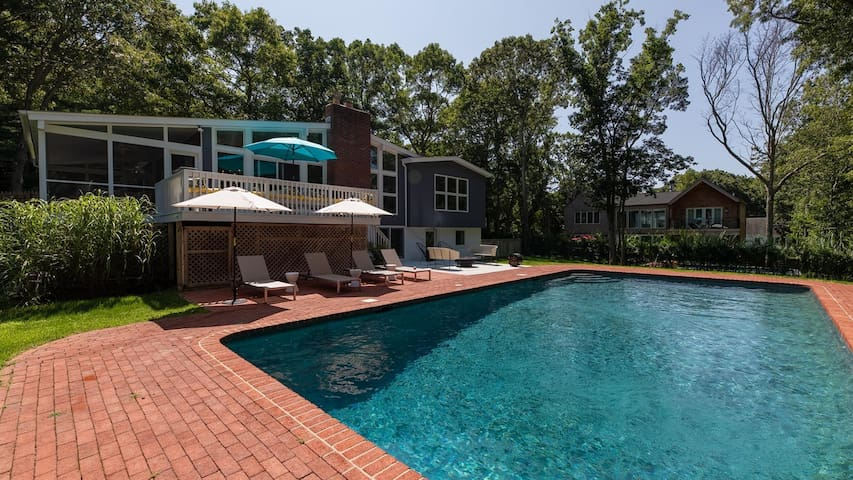 New Listing: Emmaculate Home in Sag Harbor Village, Outdoor Oasis w/ Pool, Fire Pit, & Dining