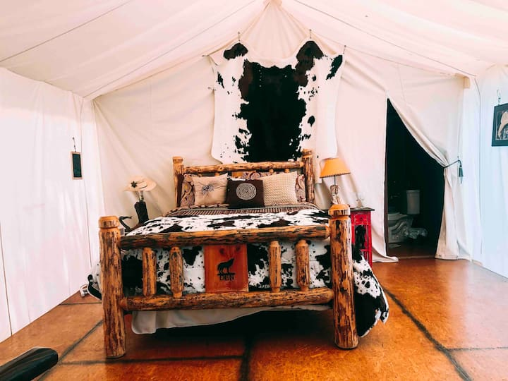 Valley Village Wild West Glamping tent