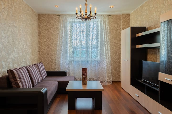 Spacious apartments in the center of Murmansk.