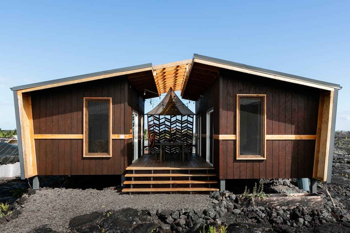Amazing Family Tiny Home, on A Volcanic Lava Field