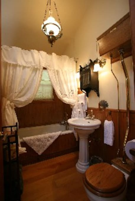 Quaint Bath with deep tub
