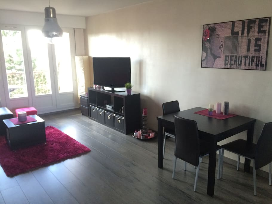 Spacieux appartement 2chambres parking balcon for Appartement atypique dijon louer