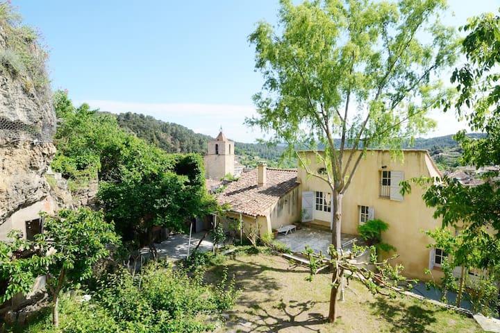 Grande Maison provençale avec un grand jardin - Barjols - Şehir evi