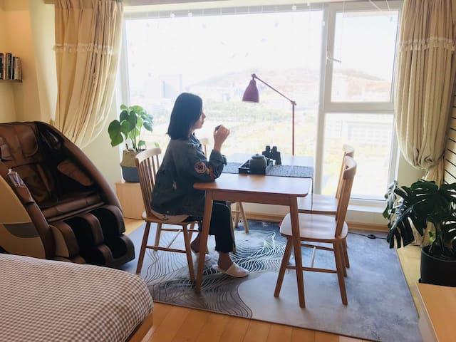 【星星姐家·雕塑】温暖高层观海公寓