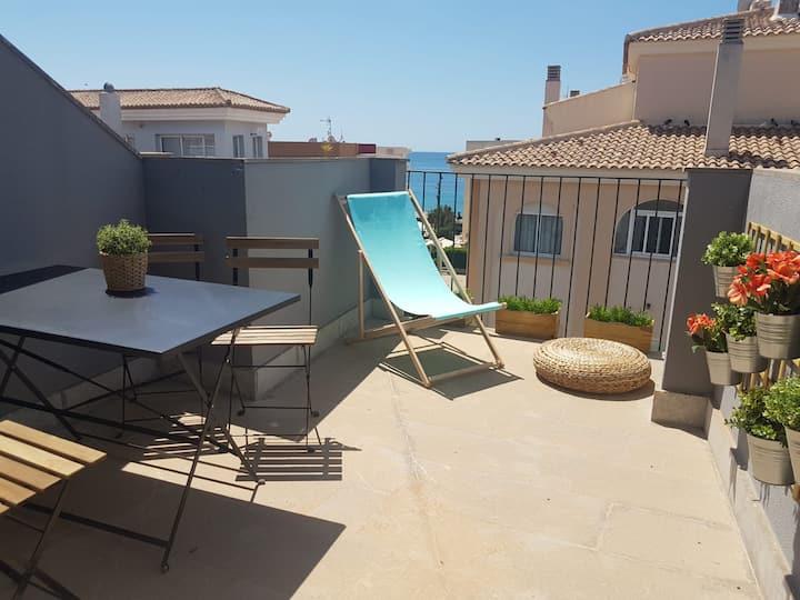 Ideal Ático-Duplex Deluxe, vistas al mar, Moraira.