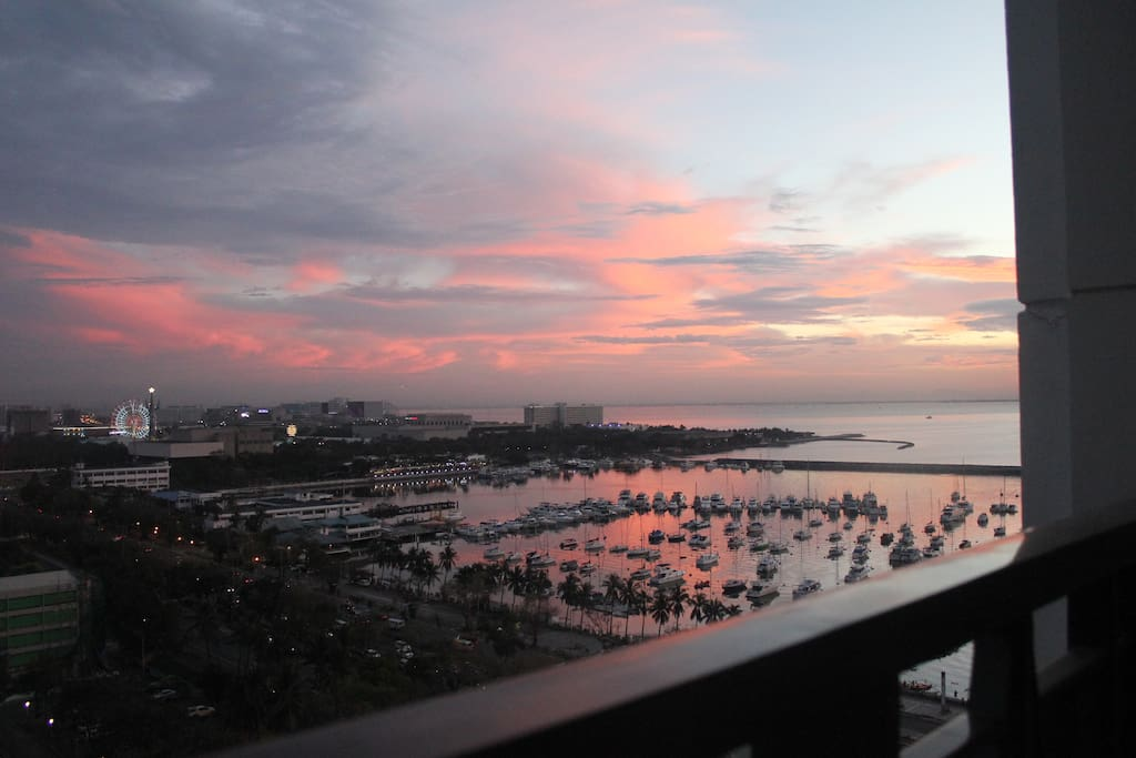 view from my balcony (sunset)