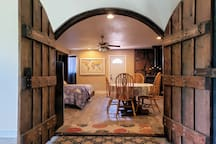 Welcome to our BnB!  The space consists of a private room, a private entrance, and  a private bathroom.  The kitchen and living room areas are shared with the owner.  There is small kitchenette located inside of the private guest room.