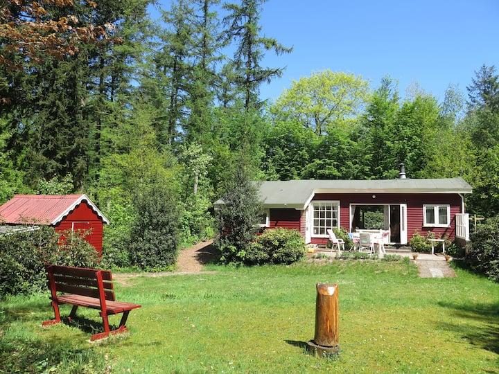 Sfeervol vakantiehuis met grote tuin op het zuiden
