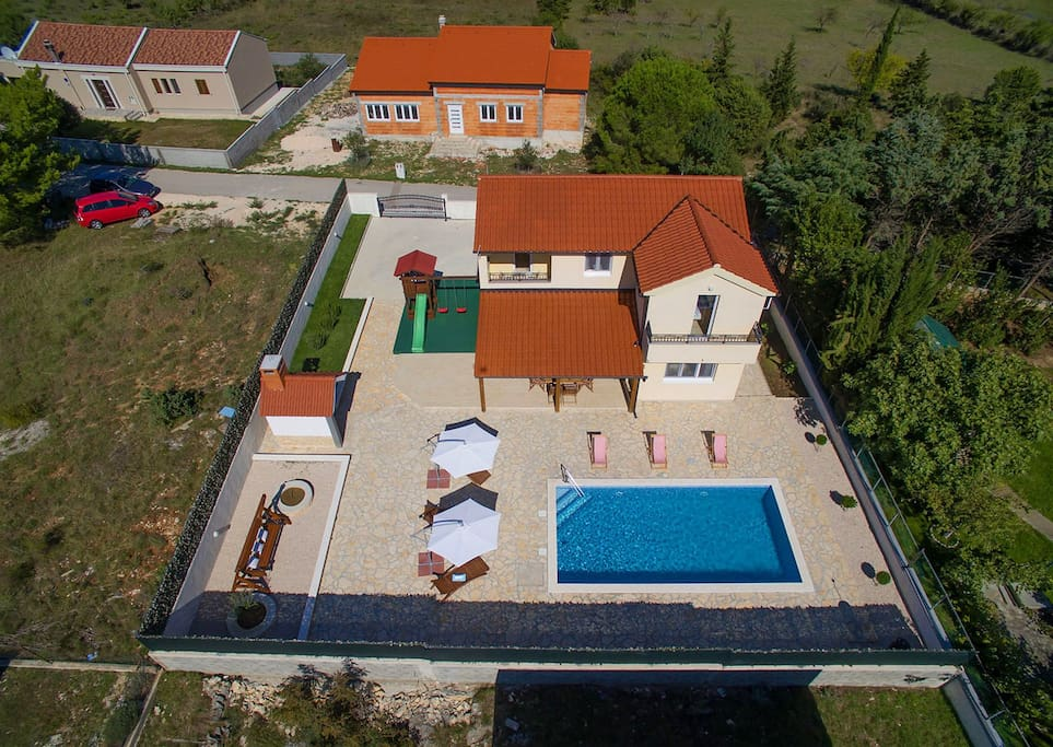 Villa St. Grgur from the air