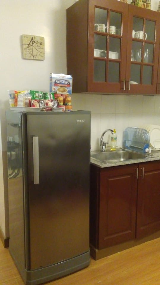 The kitchen cabinet- note: we have no cooking provision