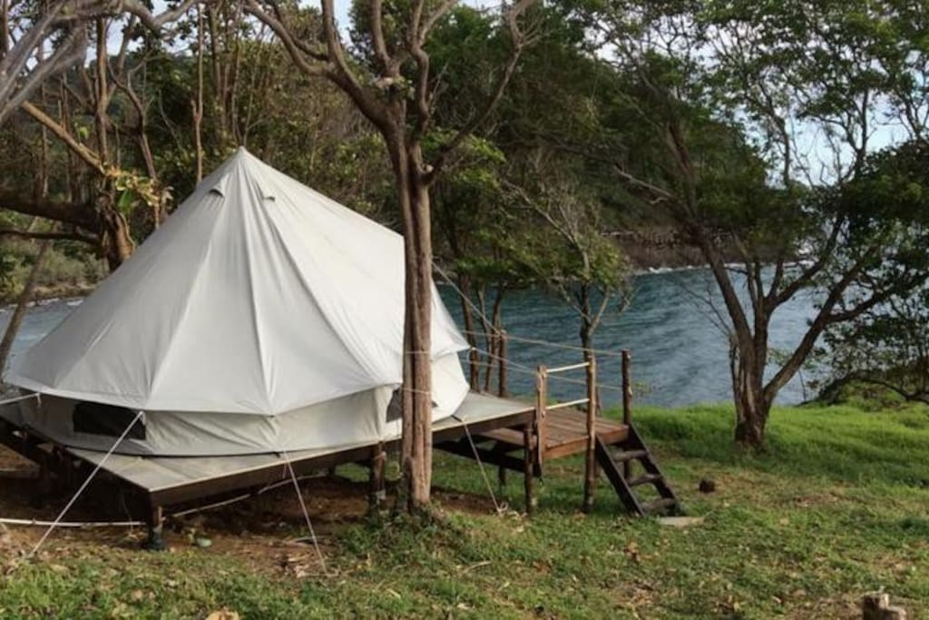 Cliff Top Tent On Wooden Platform Tents For Rent In Ko