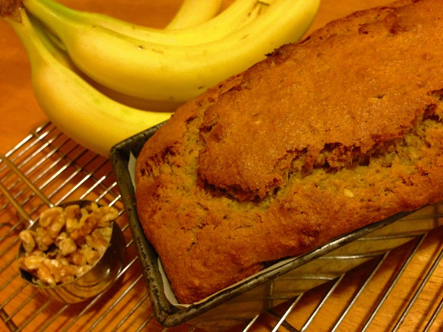 When available, there's home made vegan banana nut bread when you check in...toast it for yummy crunch!