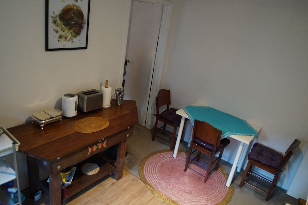Well equipped kitchenette and dining area.