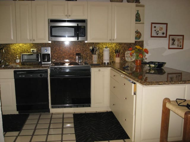 Our kitchen has been newly renovated and is fully equipped