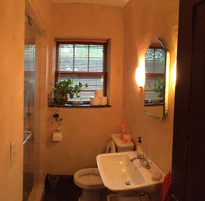 Private en-suite bathroom with large shower