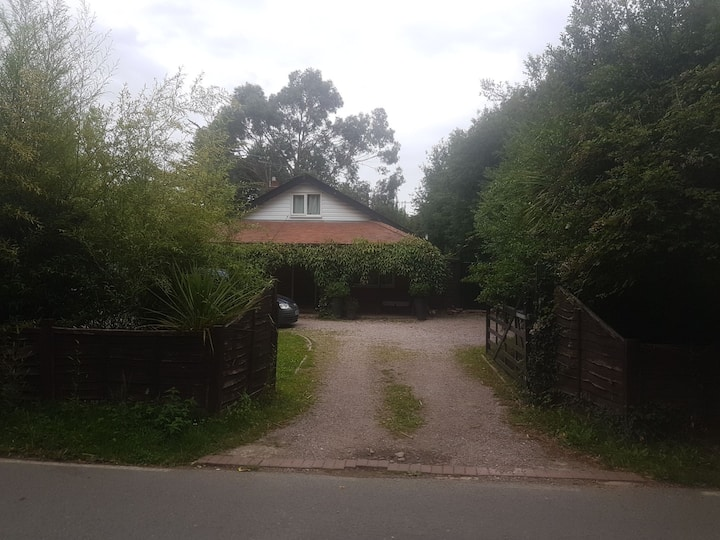 Luxurious chalet bungalow with beautiful gardens.
