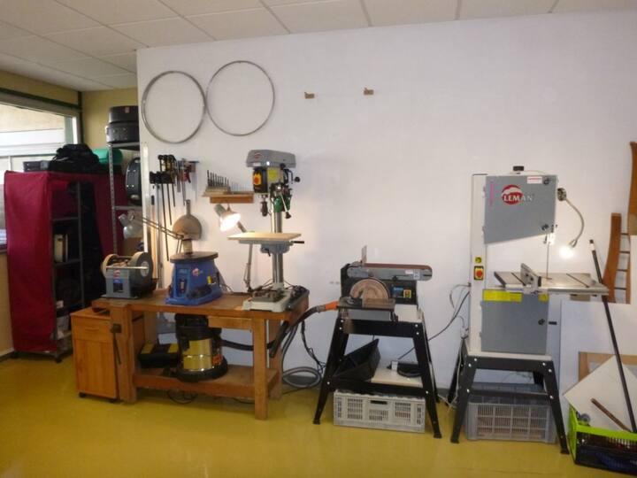 Les machines dans mon atelier