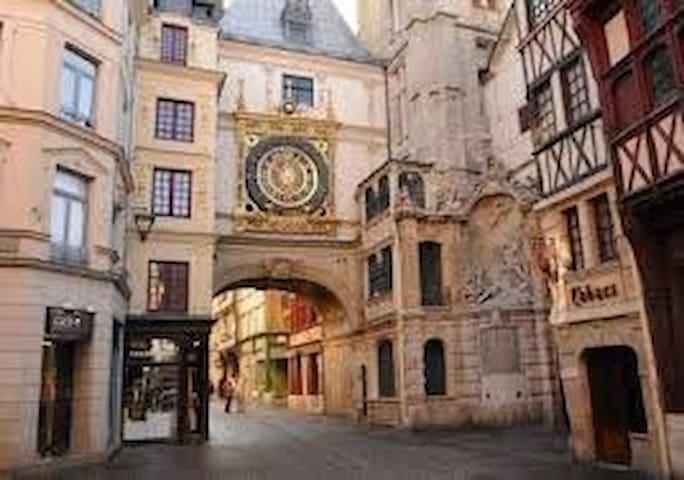 Rouen, la ville aux 100 clochers à 22 kms - 20 minutes en Bus