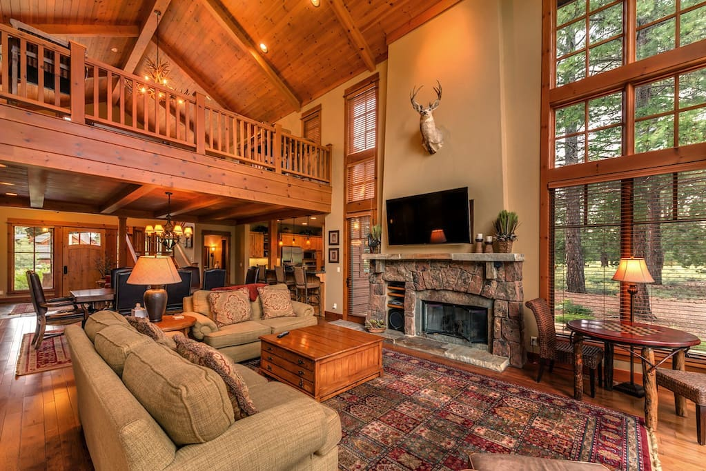 Great room has gas fireplace