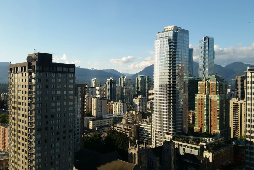 amazing view from the top of vancouver downtown. Black Bedroom Furniture Sets. Home Design Ideas