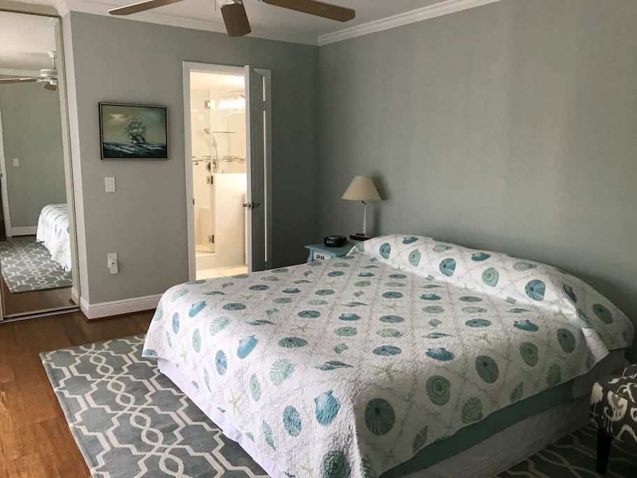 Master bedroom,king bed w/ walking closet