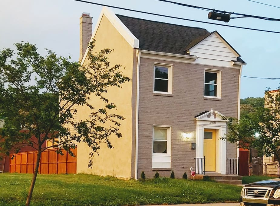 """The DC Dime (aka """"The Clay"""") is just as shiny and clean as the coin for which it's named.  It truly stands out among the other homes in the neighborhood because of its gleaming appearance and well maintained curb-appeal, and a privately fenced yard offers an unexpected oasis in the middle of the city."""
