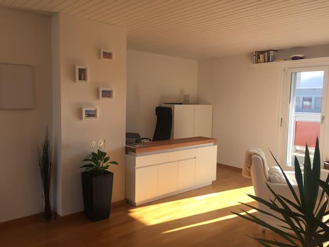 Appartement, grande terrasse et vue sur montagnes