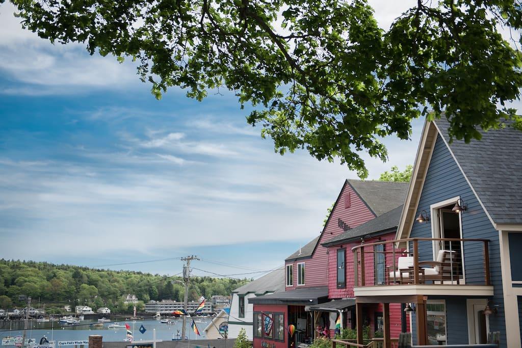 Incredible views of Boothbay Harbor.