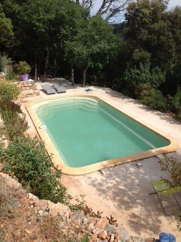 Grande maison avec piscine, vue vignes et collines - Flassans-sur-Issole - Talo